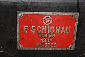 Schichau-Werke - Locomotive nameplate