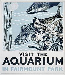 Fairmount Park Aquarium WPA Poster