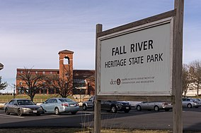 Fall River Heritage State Park sign and building.jpg