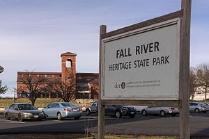 Fall River Heritage State Park - Image: Fall River Heritage State Park sign and building