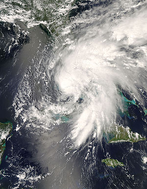 Tropical Storm Fay (2008) - Tropical Storm Fay approaching Florida