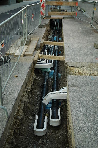 Insulated pipe - District heating pipeline from Lower Austria