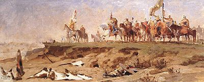 Feszty, Árpád - Conquest, first sketch (1891).jpg