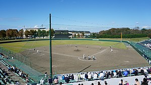 Field of Akita Municipal Yabase Baseball Stadium 20181014.jpg