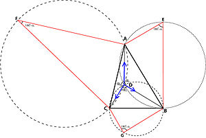 Weber problem -  Simpson's geometrical solution of the Weber triangle problem.