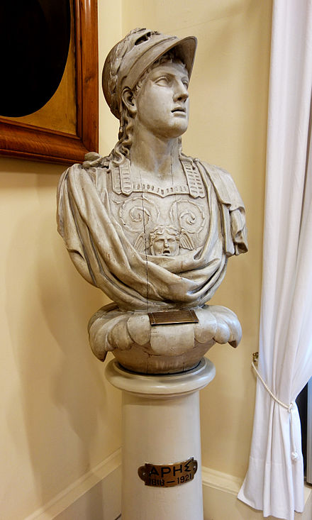The figurehead of the Greek brig Aris, c. 1807. National Historical Museum, Athens.