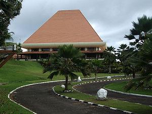 Fijian parliament house in Suva.