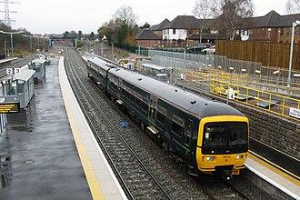 Filton Abbey Wood railway station - Image: Filton Abbey Wood GWR 165132 Cardiff Central service