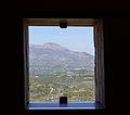 Finestra de la torre d'Almudaina amb vista al Benicadell.JPG