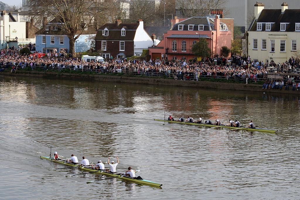 Finish of 2007 Oxford-Cambridge boat race