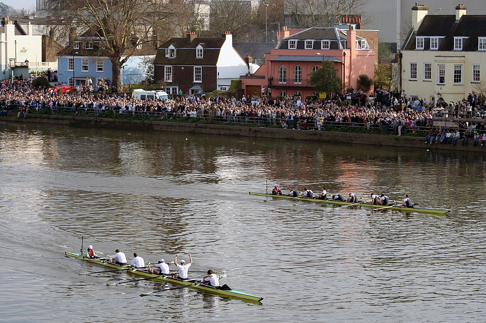 Finish of 2007 Oxford-Cambridge boat race