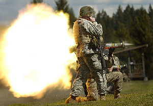 AT4 - US Army soldiers fire the M136 AT4 in April 2007.