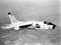 First F-8D Crusader in flight in 1960.jpeg