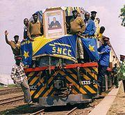 First train in Kindu, DRC