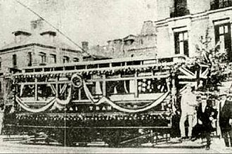 Trams in China - The first tram in Shanghai (1908)
