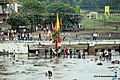 Flags raised on the day of Gotmar Fair, Pandhurna - panoramio.jpg