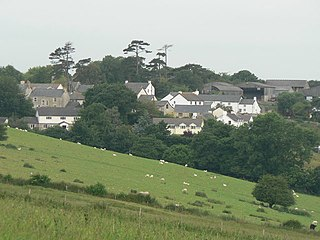 Flemingston village in the Vale of Glamorgan in south Wales
