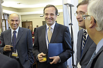 Antonis Samaras - Antonis Samaras at EPP Summit, June 2010