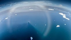 Fog bow and Brocken spectre with glory at Hinlopen strait, Svalbard.jpg