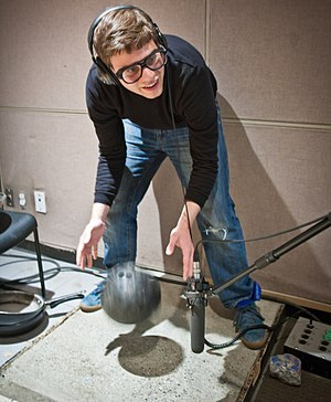 Foley (filmmaking) - A Foley artist at work