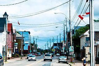 Stellarton Town in Nova Scotia, Canada