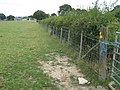 Footpath junction in Burnt House farm land - geograph.org.uk - 1420754.jpg