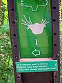 Footpath sign with useful safety information - geograph.org.uk - 1478250.jpg