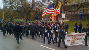 Forest Park High School (Maryland) - Forest Park Army JROTC at the 2008 Morgan State University Homecoming Parade.