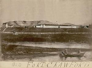 Fort Crawford - A painting of the Second Fort Crawford, circa 1840