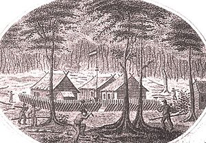 Western New Guinea - Fort Du Bus in 1828