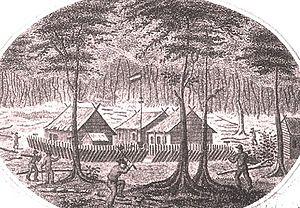 Western New Guinea - Fort Du Bus in 1828