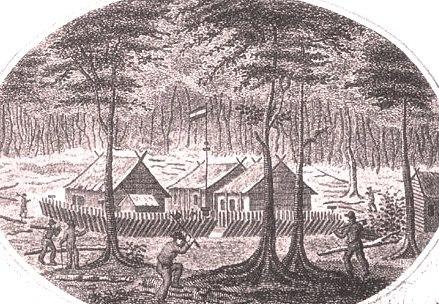 Fort du Bus in 1828