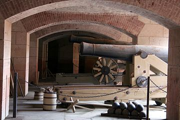 Cannons on display at Fort Point