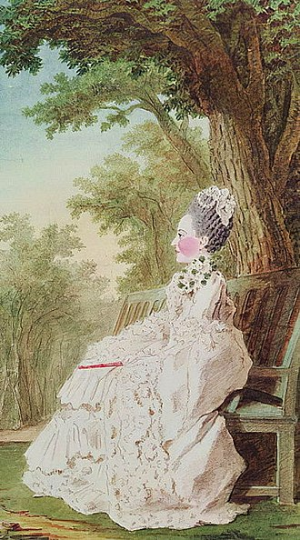 Maria Fortunata d'Este - Este in 1768 by Carmontelle