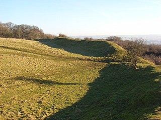 Fosbury Camp hillfort in Wiltshire