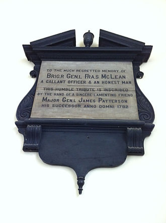 New Ireland (Maine) - Francis McLean Plaque, St. Paul's Church (Halifax), Nova Scotia