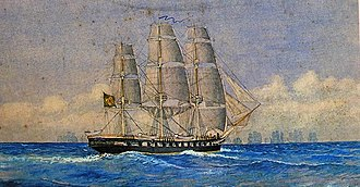 Brazilian Navy - Frigate Nictheroy chasing the Portuguese fleet during the war of independence.
