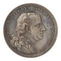 Framsida av medalj med Karl XIII i profil samt text - Skoklosters slott - 99557.tif