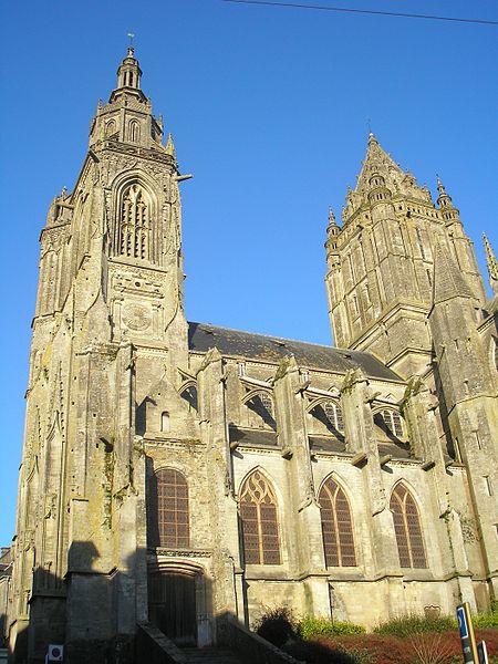 Coutances (Normandie, France). L'église Saint-Pierre.