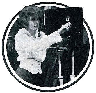 Francelia Billington - Francelia Billington operating a movie camera in 1914