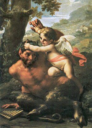 Francesco Mancini (1679–1758) - F. Mancini, Lotta fra Amore e Pan, Musei Vaticani