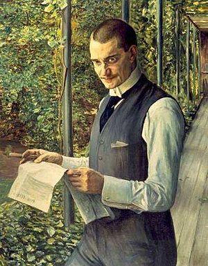 Franz Koenigs - Franz Koenigs painted by his father-in-law Leopold von Kalckreuth (1855–1928)