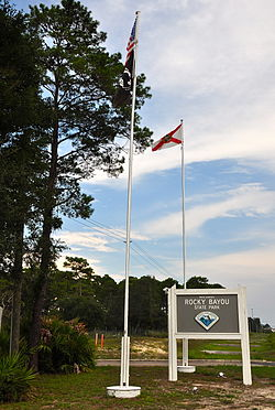 Fred Gannon Rocky Bayou State Park entrance sign.jpg
