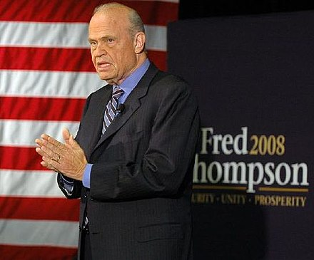 Thompson in Iowa, 2007 Fred Thompson - Sioux City1 (a).jpg