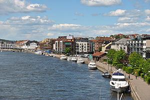 Fredrikstad - Riverside promenade in Fredrikstad