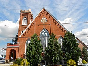 Oley, Pennsylvania - The Friedens United Church of Christ in the village