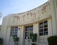 Frieze at Lou Henry Hoover School, Whittier