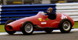 José Froilán González - González demonstrating a Ferrari 500