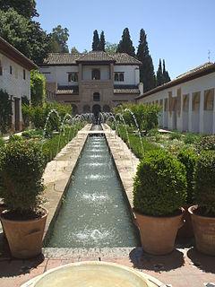 Fuente en los jardines de la Alhambra