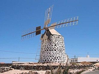 La Oliva - Image: Fuerteventura windmuehle 750px